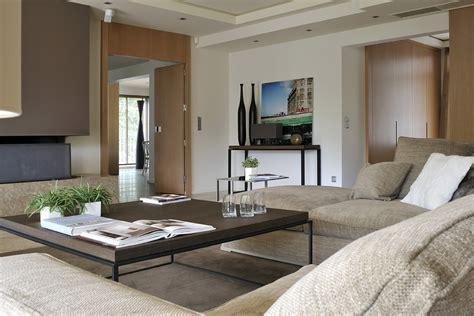 amenagement luxe salon penthouse mont d or