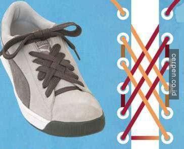 tutorial ikat sepatu unik 15 cara unik mengikat tali sepatu ini bikin harimu berbeda