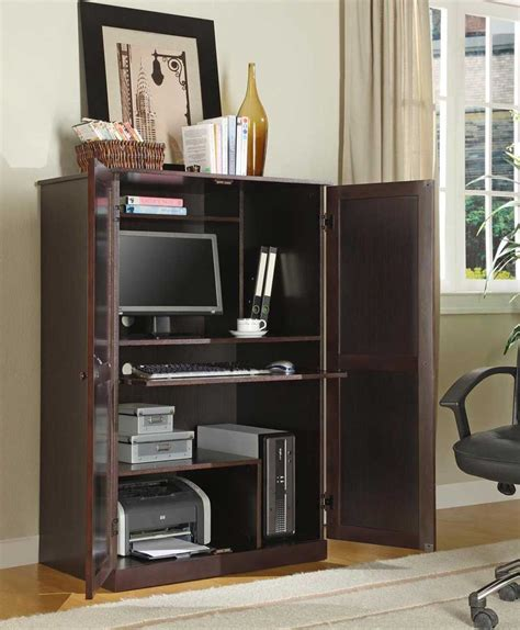 Corner Desk Armoire Computer Corner Armoire To Facilitate Your Work