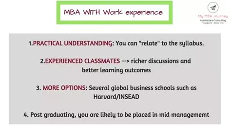 Mba Universities Usa Without Work Experience by Is An Mba With Work Experience Preferred Or Without It