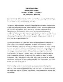Presenting An Award Speech Template by Speech Deans Awards Universityofmelbourne 2013