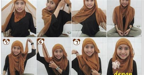 khairun nisa tutorial hijab paris simple