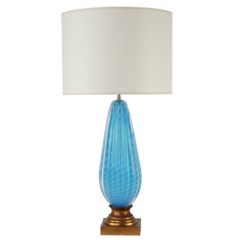 Blue Glass Table L S Murano Blue Glass Table L On Gilt Base For Sale At Stdibs Home Lighting Ideas