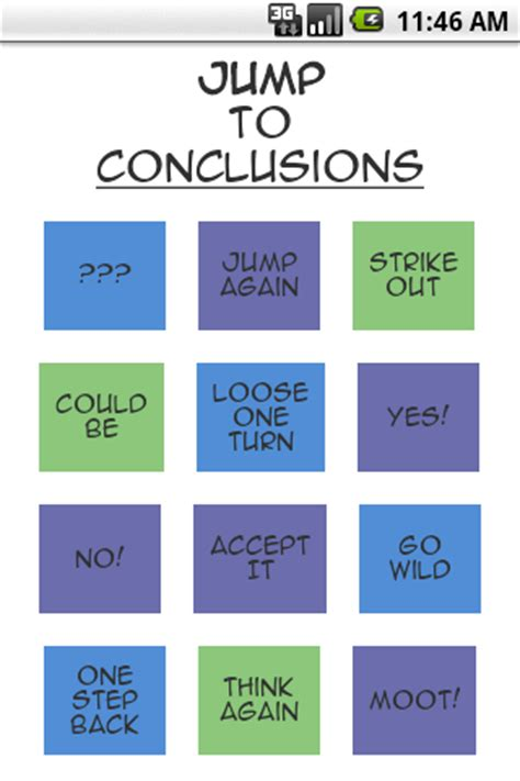 Jump To Conclusions Mat by Jump To Conclusions App Android Apps On Play