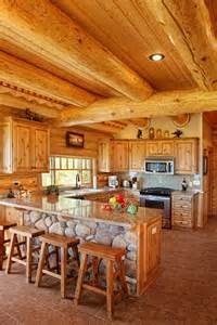Log Home Kitchen by 124 Luxury Kitchen Designs Part 2