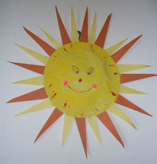 Sun Paper Plate Craft - roohi s collections paper plate craft sparkling sun