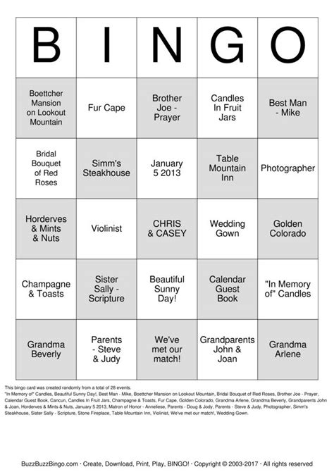 table mountain bingo calendar bridal shower bingo cards to print and customize