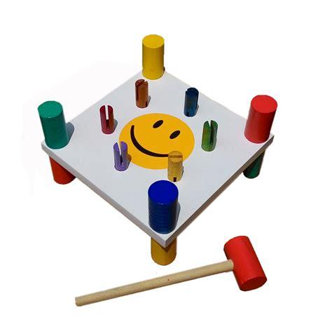 Mainan Anak Palu Bola Kayu palu kayu 6 pasak mainan eduka
