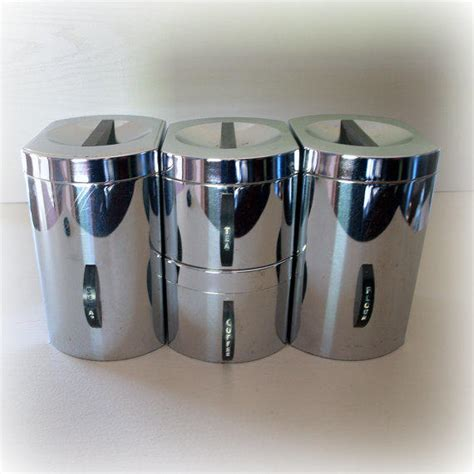 mid century canister set retro kitchen bling 1950s retro atomic kitchen canisters from aces finds vintage