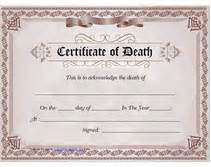 free printable blank certificate of death