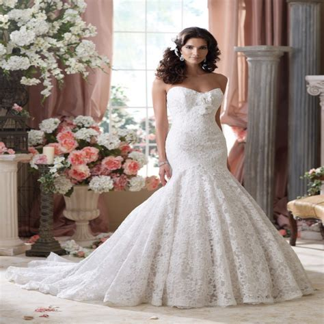Plus Size Lace Wedding Dresses With Cathedral by 2015 High Fashion Designer Arabic Lace Mermaid Wedding