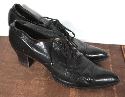 1920s shoes antique 1920s shoes 1910 1920 black leather by