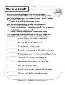 what is an adverb free printable adverb activities