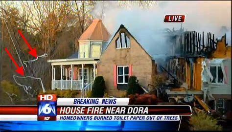 family burns house cleaning up toilet paper with