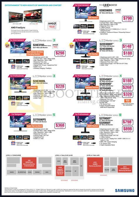 Samsung L E D Tv Price List by Samsung Monitors Led U28e590ds S22d300hy S24d300hs