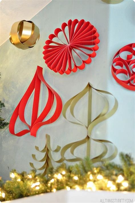 How To Make Paper Decorations For - how to make paper ornaments all things thrifty