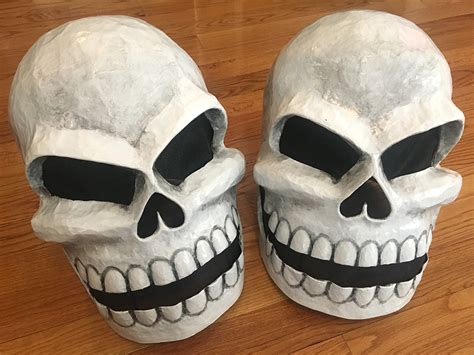 How To Make A Paper Mache Skull Mask - papier mach 233 projects decorations and more