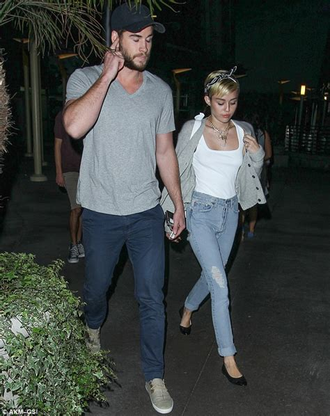 Mileys Parents Stay Together by Miley Cyrus And Liam Hemsworth Pictured Together For