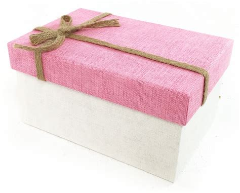 pink fabric simple bow rectangle hard cardboard craft