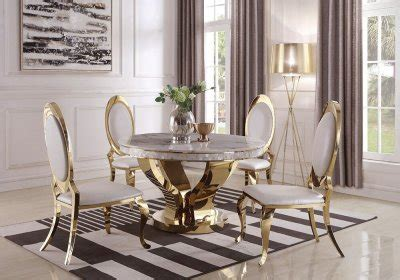 kendall dining table   gold  coaster woptions