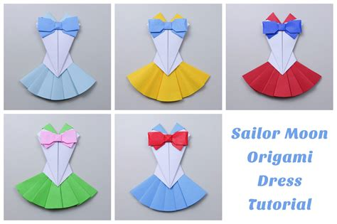 How To Make A Paper Dress Origami - origami sailor moon dress tutorial paper kawaii