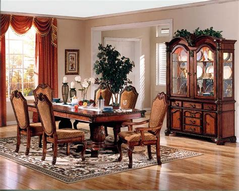 pedestal dining room table wood formal