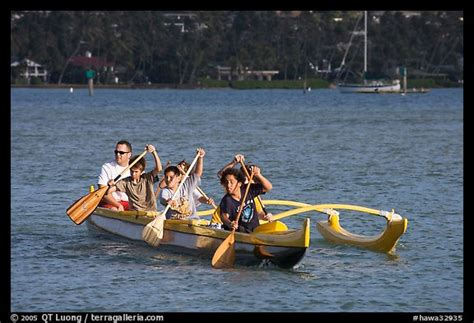 buy a boat oahu picture photo outrigger canoes boys paddling an