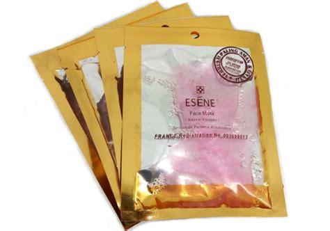 Esene Golden Mask review esene mask collagen pink yukcoba in