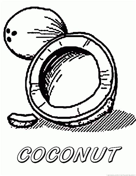 coloring coconut coconut colouring pages