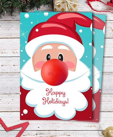 Eos Reindeer Card Free Template by Eos Gift Diy Santa Claus Gift With Eos Lip