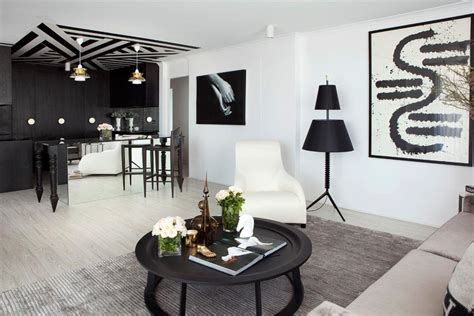 Appartement Noir Et Blanc by Bel Appartement Design 224 Brisbane 224 La D 233 Co 233 L 233 Gante En