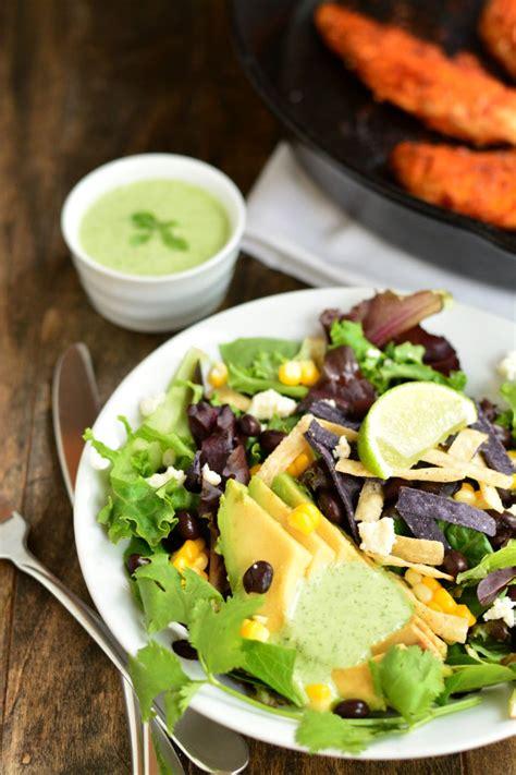 Glaze Avocado Keyz And chipotle chicken salad with cilantro lime dressing