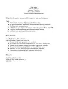 Spray Painter Sle Resume by Auto Painter Sle