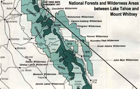 california national forests map maps of eldorado national forest california