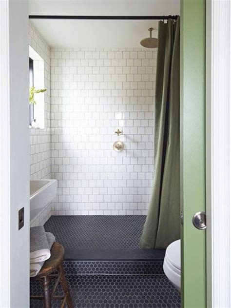 Black Bathroom Floor Tiles 37 Black And White Hexagon Bathroom Floor Tile Ideas And Pictures