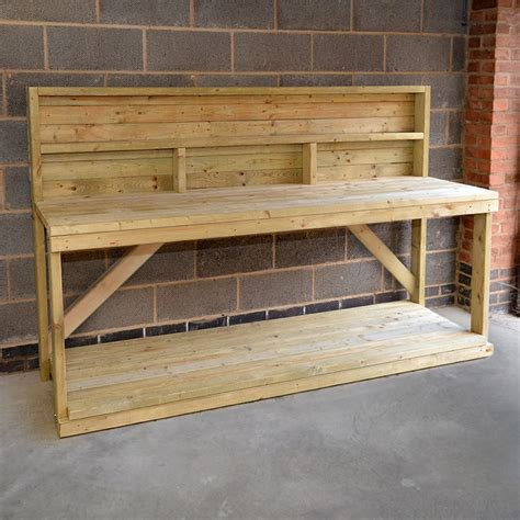 wooden workshop benches wooden work bench with back panel heavy duty hand made