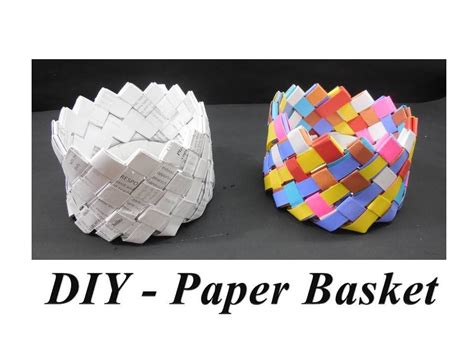 How To Make Paper Basket For - diy how to make paper basket my crafts and diy projects