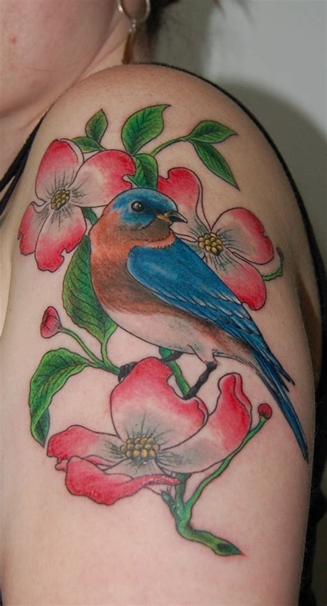 tattoo flower with birds 25 dogwood flower tattoo designes for girls