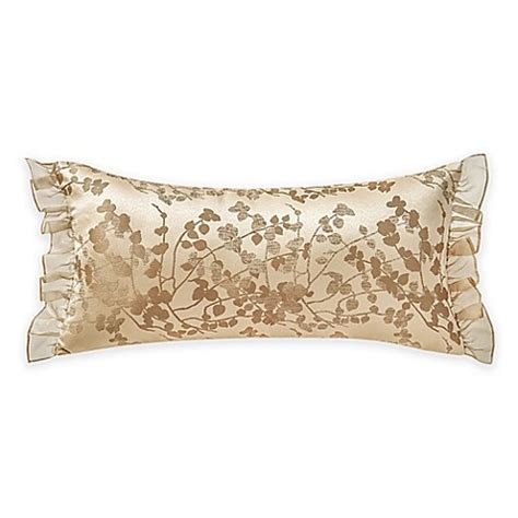 bed bath and beyond waterford waterford 174 linens copeland leaf breakfast throw pillow in