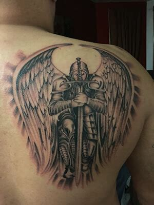 105 Remarkable Guardian Angel Tattoo Ideas Designs With Ngel With Sword Tattoos For