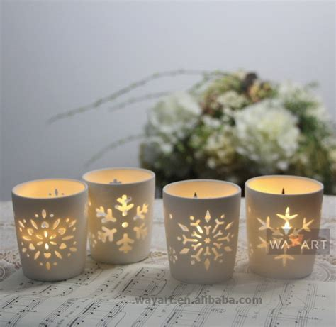 ceramic candle holder snowflake christmas candle holder