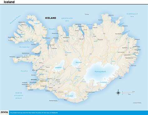 map iceland printable travel maps of iceland moon travel guides