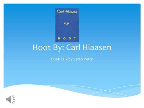 hoot book report book talk hoot p p