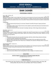 Resume Exles For Cashier by Exle Bank Cashier Resume Free Sle