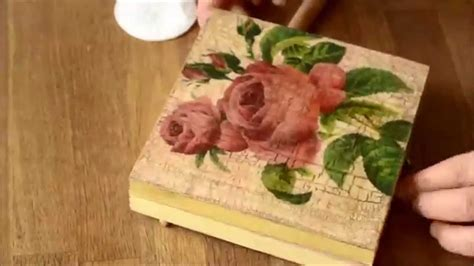 Decoupage Technique - decoupage technique and cracking varnish starter kit 1
