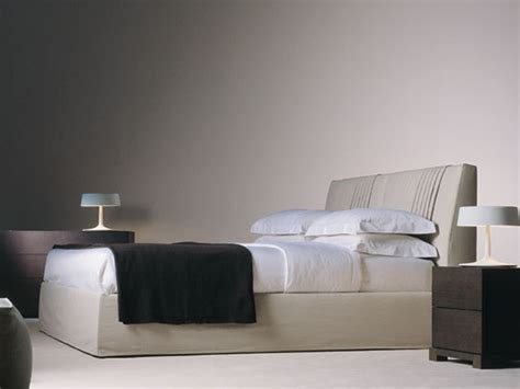 bed with removable cover by meridiani