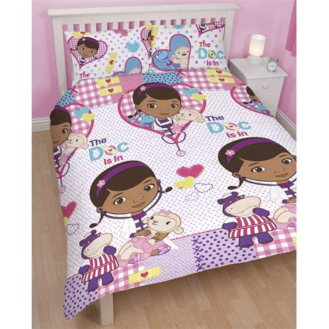 Dr Mcstuffins Bed Set Doc Mcstuffins Duvet Cover Pilowcases Set New Official Ebay