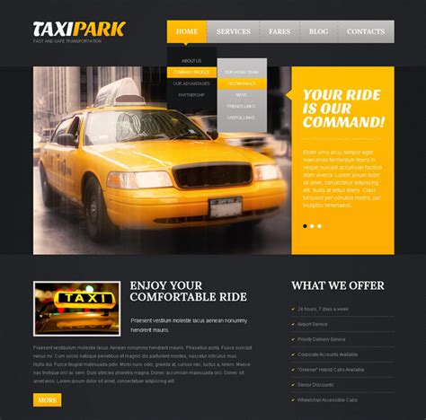 20 Best Taxi Company Website Templates Free Premium Taxi Company Website Template