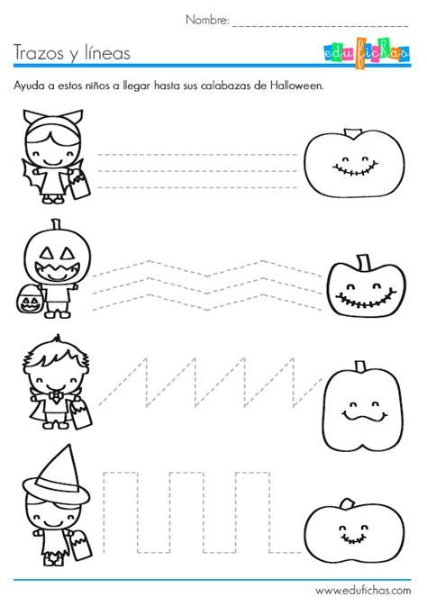 ejercicios de grafomotricidad con trazos curvos para l 237 neas y trazos de halloween fichas educativas de halloween