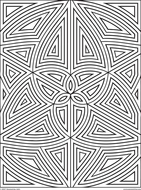 Coloring Page Designs Difficult Geometric Design Coloring Pages Rectangles by Coloring Page Designs